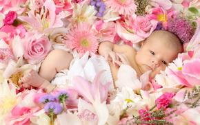 kid, child, children, flowers, roses