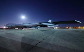 night, aircraft, airplane