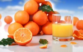 апельсиновый, апельсины, фрукты, вкусно, сок