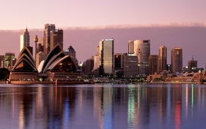 Australia, water, cities, city, sky