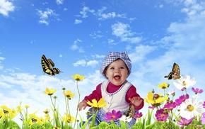 flowers, girlie, children