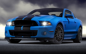 Ford, blue, mustang, cars