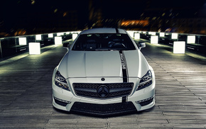 Mercedes-Benz, cars, tuning, night