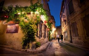 France, night, cities
