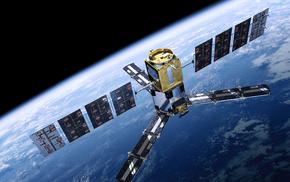 satellite, planet, space