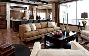 room, pillows, couch, design, interior
