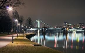 river, city, cities, embankment