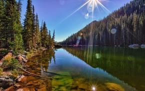 river, nature, USA