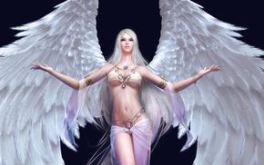 magic, angel, girl, wings, art