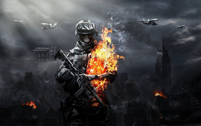 zombies, video games, fire, soldier
