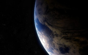 звезды, Земля, космос, планета