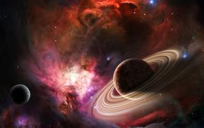 stars, space, nebula, planets