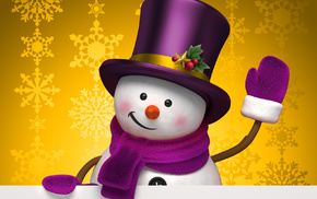 winter, snowman, holiday