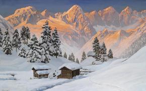 alois arnegger, .зима, альпы, горы, зима, пейзаж