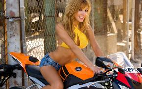 девушка, sandy, мотоцикл, honda, девушки, moto