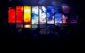 3D, abstraction, landscape, colors