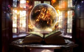 light, sphere, magic, ball, fantasy