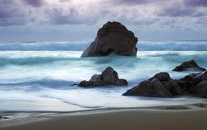 море, Морской прибой, природа