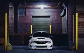 garage, cars, Subaru