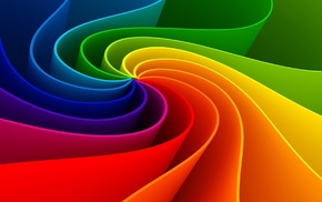 3D, paints, rainbow, lines