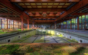 decay, ruin, Pripyat, abandoned, swimming pool