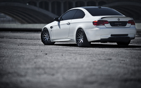 m3, cars, BMW, rear view, white