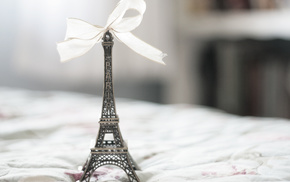 Paris, bow, macro, Eiffel Tower