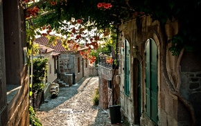 houses, city, France, cities, street