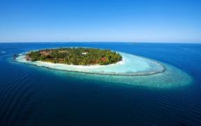 sea, water, island, nature