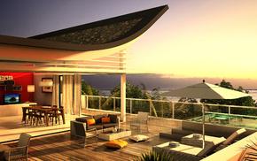 design, interior, villa, style, house