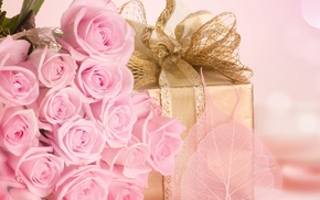 gift, love, roses, flowers, bouquet