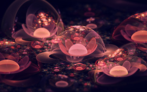 macro, flower, bubbles, 3D, abstraction
