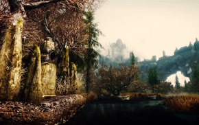 video games, render, stone, game, nature