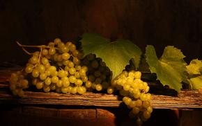 вкусно, листья, виноград, гроздь, Стол