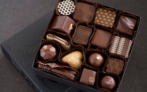 chocolate, white, delicious, box