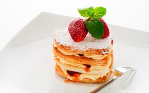 dessert, strawberry, sweet, delicious
