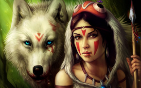 blood, girl, wolf, fantasy