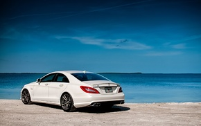 Mercedes-Benz, cars, rear view, amg, white