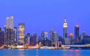 cities, skyscrapers, USA, New York City