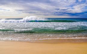 beach, sky, nature, sand, clouds