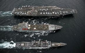 military, water, gun, ships