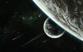 stars, planets, space