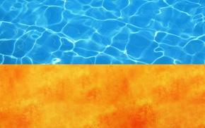 пламя, текстуры, украина, Флаг, вода