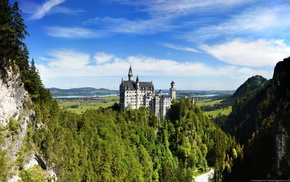 mountain, landscape, castle, cities, Germany