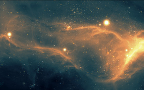 Звезды, туманность, космос