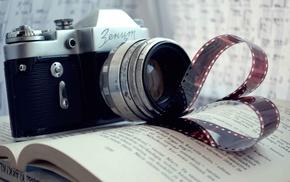 stunner, camera, book