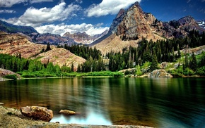 mountain, lake, nature