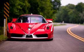 Ferrari, red, supercar, cars