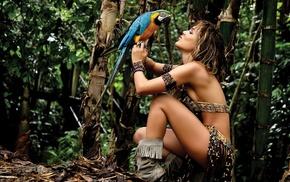 jungle, girl, stunner, beautiful