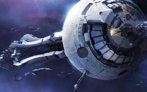 video games, Mass Effect 3, gun, space, ships